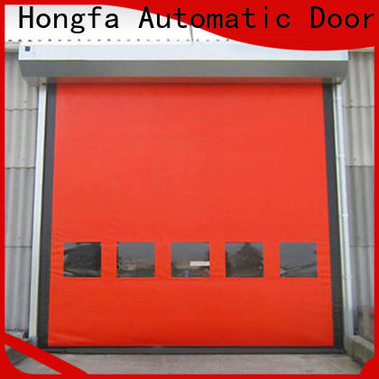 Hongfa automatic 6x8 roll up door supply for cold storage room