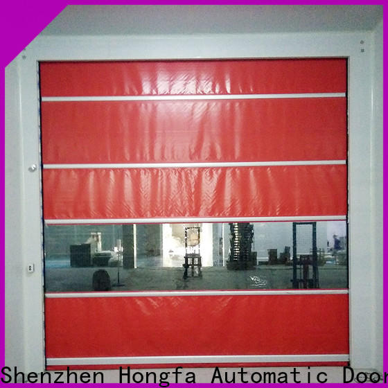 Hongfa pvc commercial shop doors factory for storage