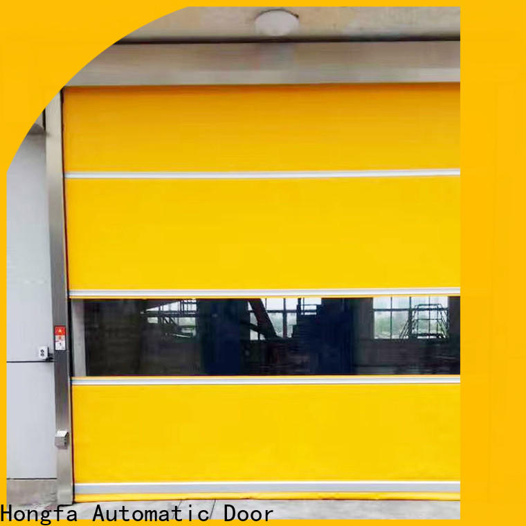 Hongfa high-speed high speed door manufacturers manufacturers for food chemistry textile electronics supemarket refrigeration logistics