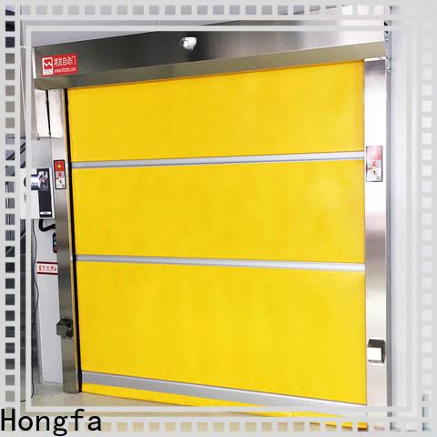 Hongfa control vinyl roll up door company for warehousing