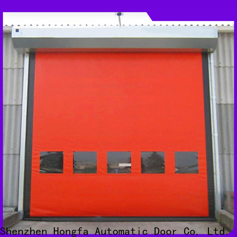 Hongfa custom insulated roll up door marketing for cold storage room