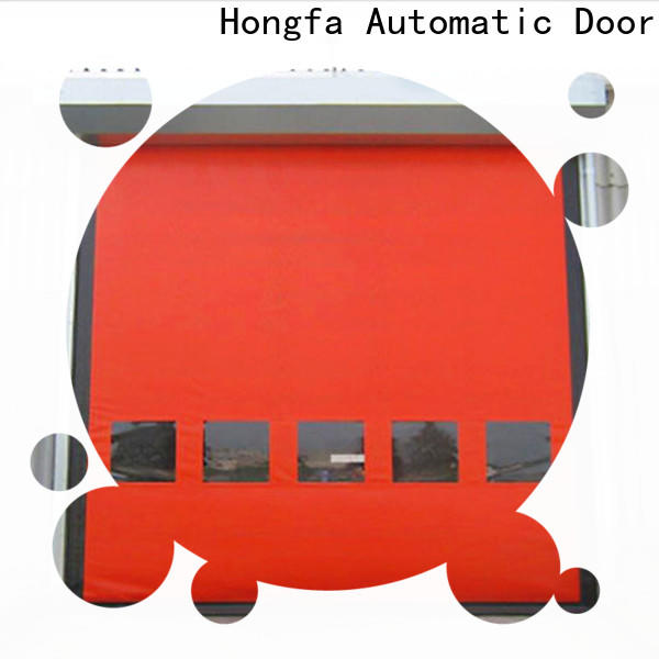 Hongfa perfect roll up garage door manufacturers company for supermarket