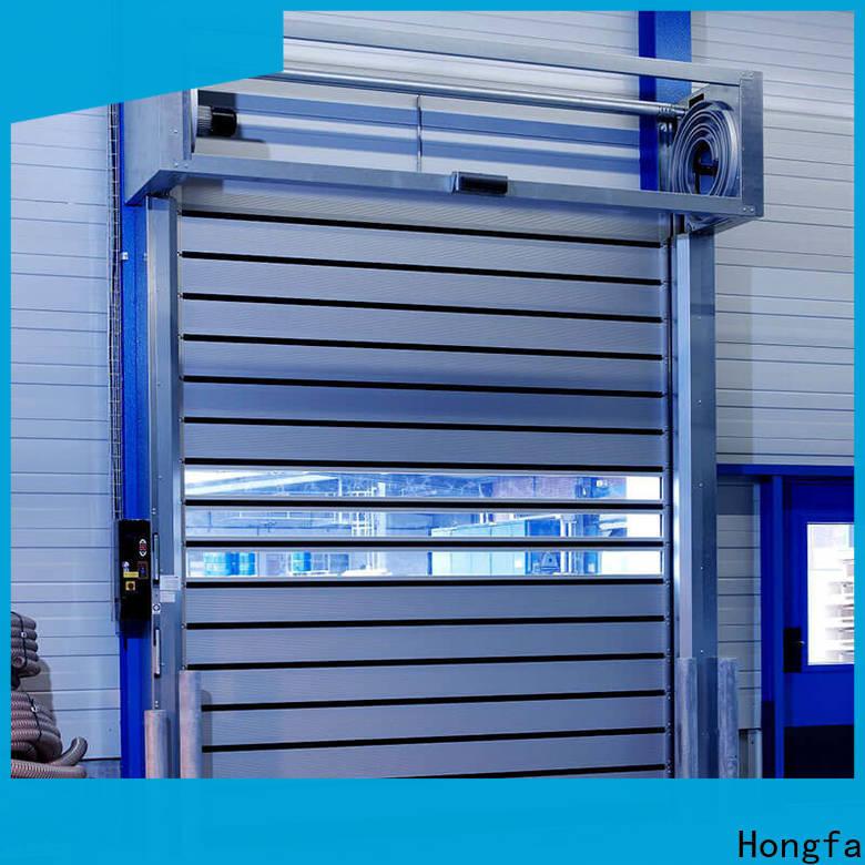 Hongfa speed spiral fast door types for factory