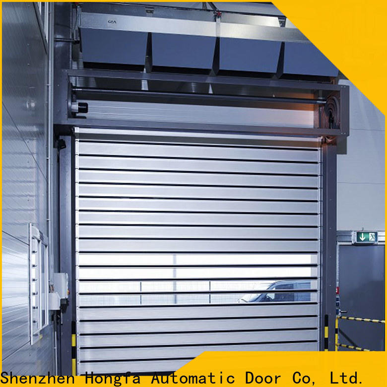 Hongfa speed commercial garage door from china for factory