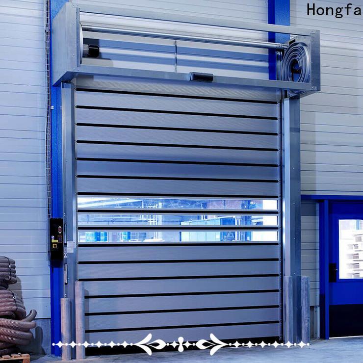 Hongfa industrial spiral fast door suppliers for parking lot