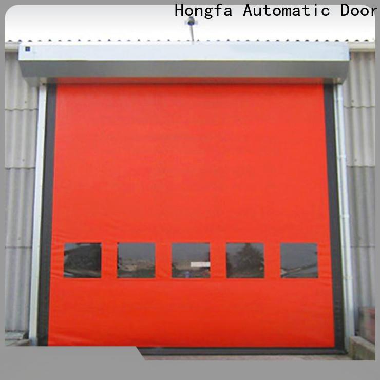 Hongfa zipper roll up sheet door experts for warehousing