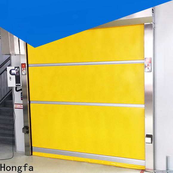 Hongfa action roll up door prices in china for food chemistry textile electronics supemarket refrigeration logistics