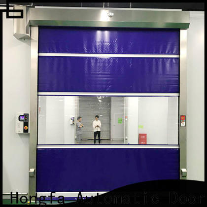 Hongfa safe roll up canvas door for business for warehousing