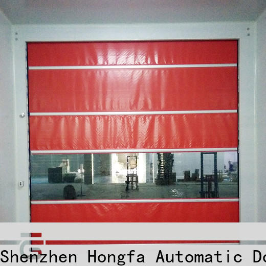 Hongfa fast small roll up doors company for supermarket