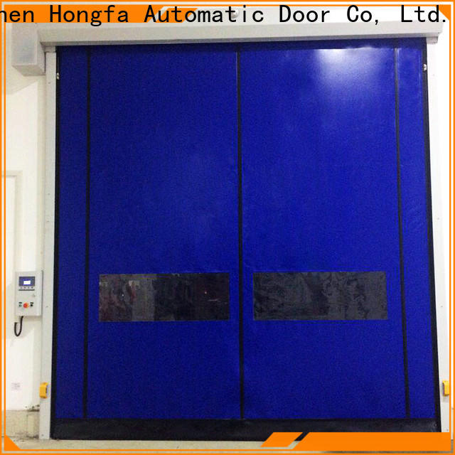 Hongfa automatic overhead roll up garage door effectively for warehousing