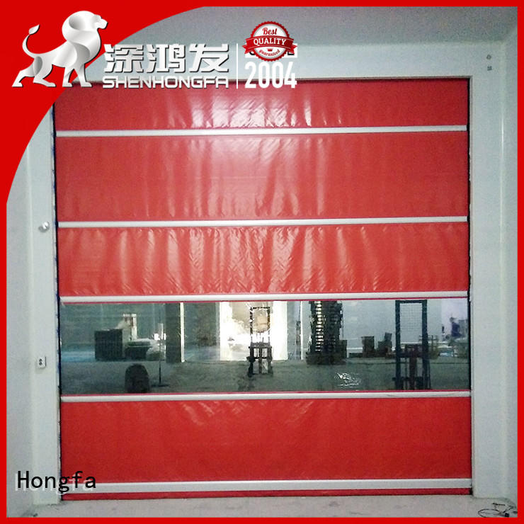 Hongfa industrial up and over doors supplier for supermarket