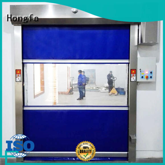 fabric high speed roller shutter doors marketing for warehousing Hongfa