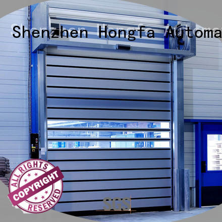 Hongfa industrial spiral fast door in different color for industrial warehouse