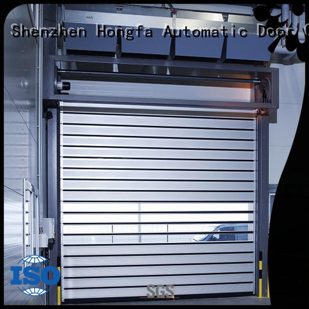 electric roll up door fast for parking lot Hongfa