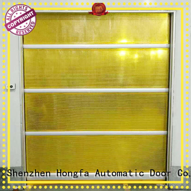 safe automatic roll up door fabric widely-use for food chemistry textile electronics supemarket refrigeration logistics