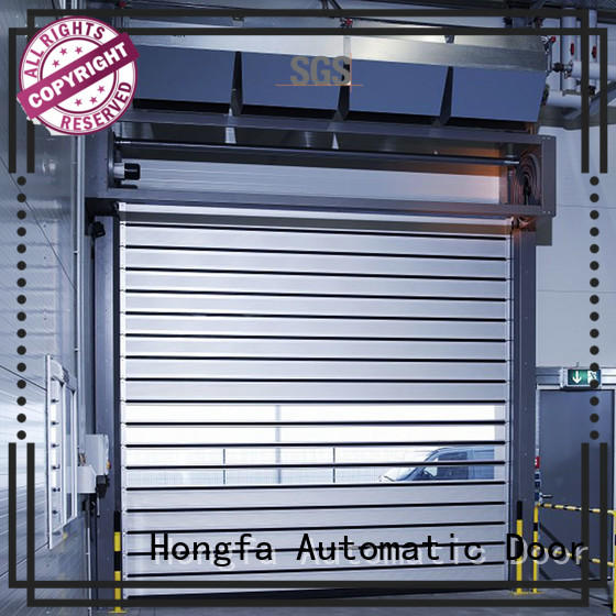 automatic 3x3 spiral door in different color for industrial warehouse Hongfa