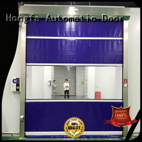 Hongfa high-quality roll up door widely-use for food chemistry textile electronics supemarket refrigeration logistics