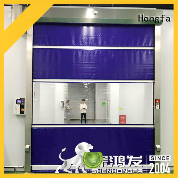 rolling fabric roll up doors factory price for storage