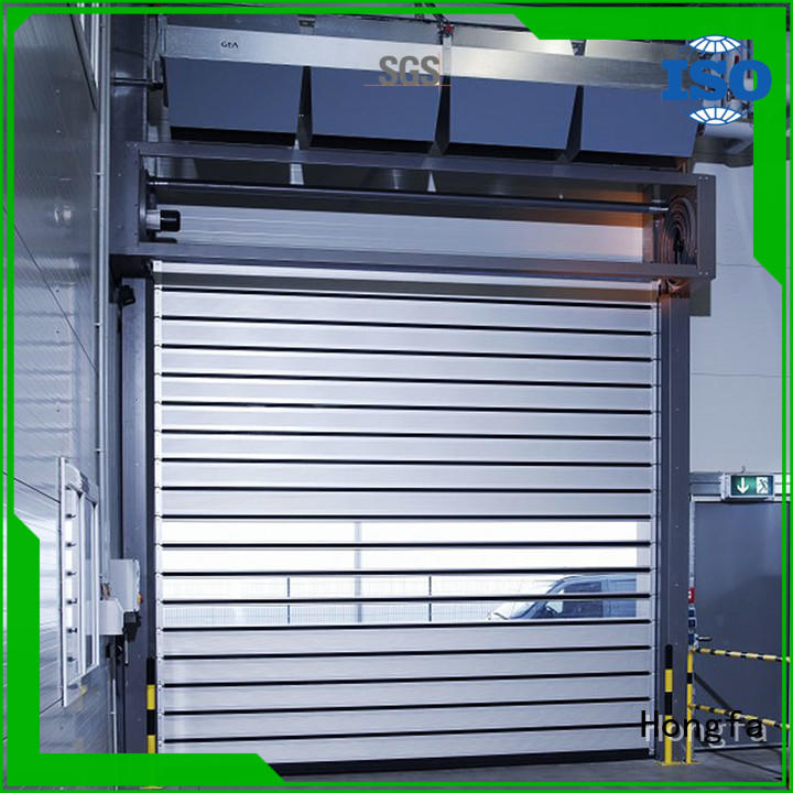 Hongfa speed spiral fast door from china for industrial warehouse