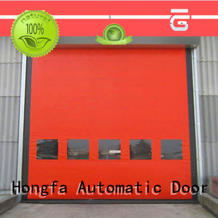 zipper zipper rapid door door for supermarket Hongfa