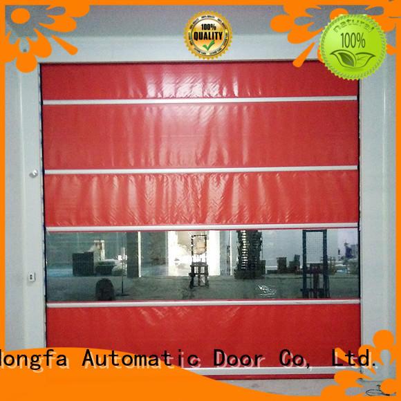 Hongfa performance fabric roll up doors overseas market for warehousing