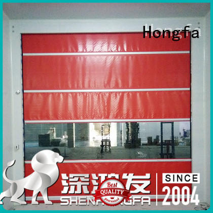 Hongfa pvc pvc high speed door overseas market for food chemistry textile electronics supemarket refrigeration logistics