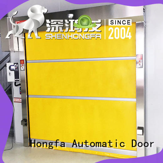 Hongfa remote fabric roll up doors factory price for storage