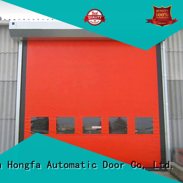 zipper self repairing high speed doors door for supermarket Hongfa