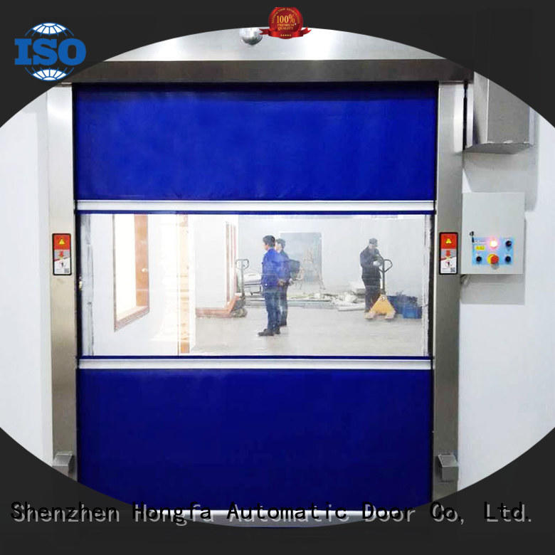 Hongfa automatic high speed shutter door in different color for supermarket
