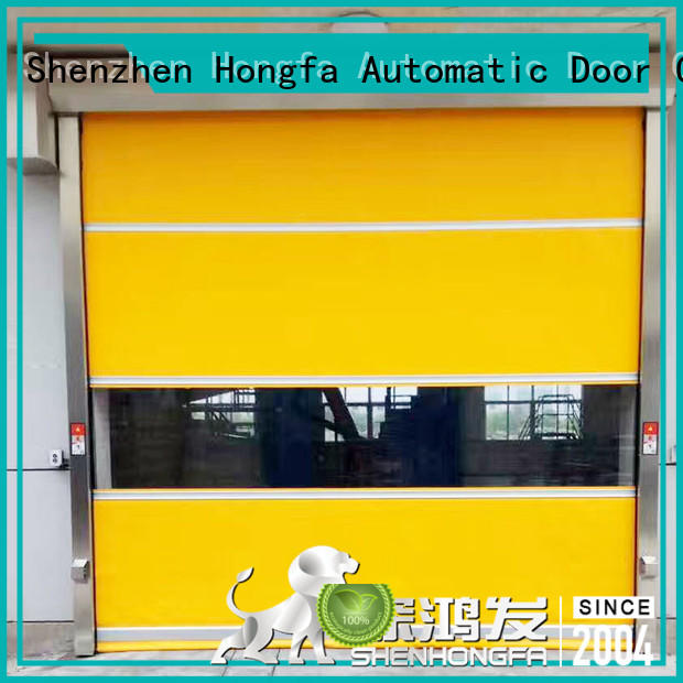 Hongfa remote high speed door in different color for supermarket