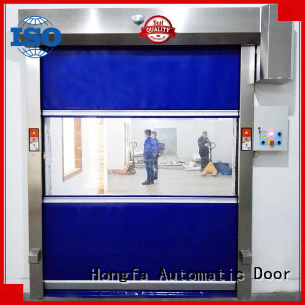 fabric rapid roll up door marketing for supermarket Hongfa