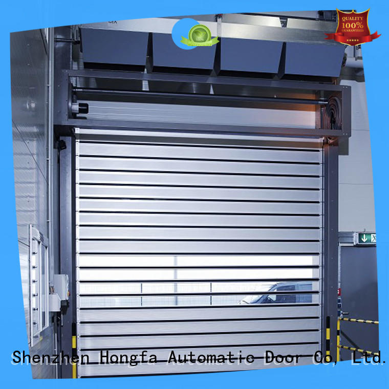 fast high speed spiral door automatic for industrial warehouse Hongfa