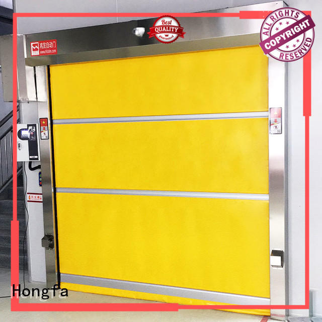 Hongfa efficient pvc high speed door in different color for factory