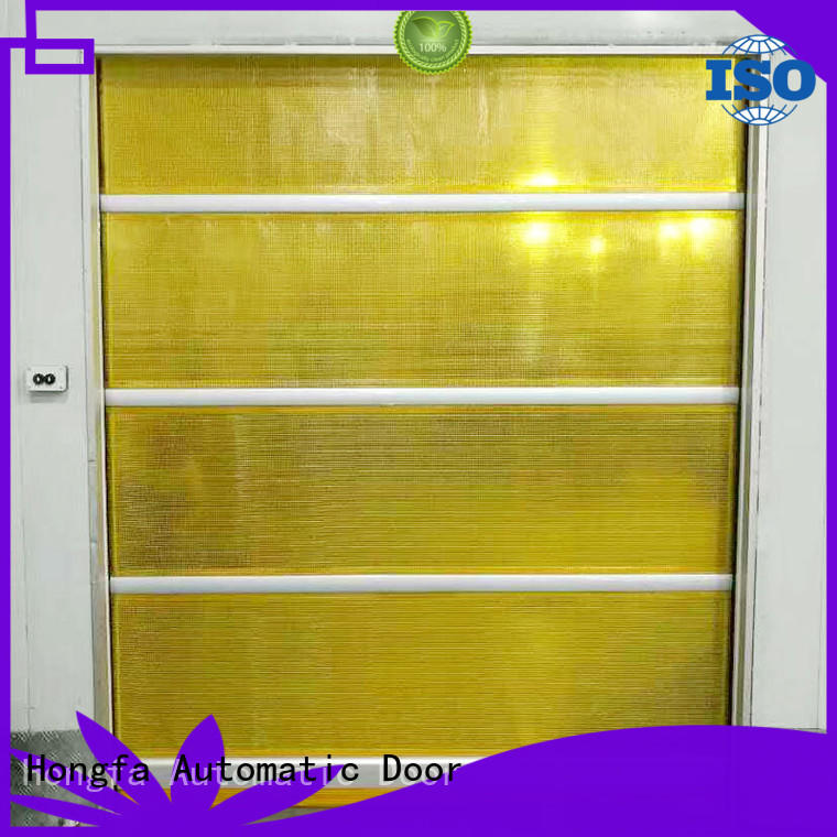 Hongfa control roll up doors interior marketing for food chemistry textile electronics supemarket refrigeration logistics