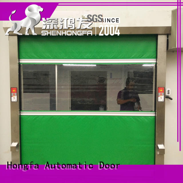 Hongfa safe PVC fast door in different color for storage