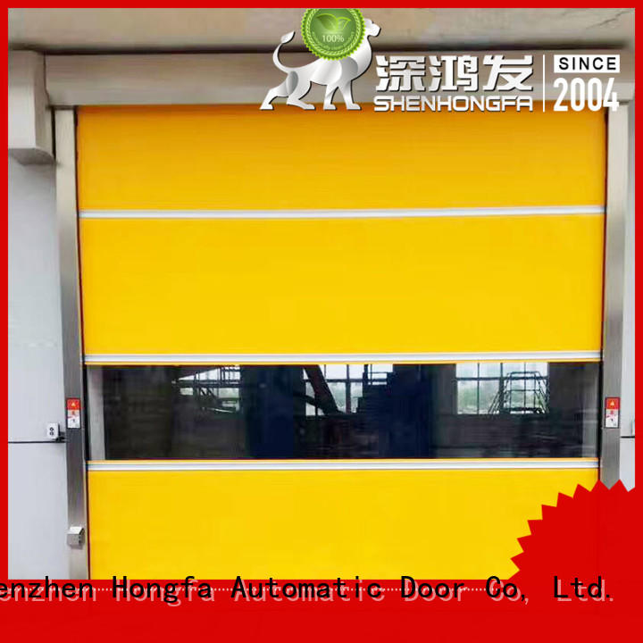 Hongfa high-tech pvc high speed door in different color for factory