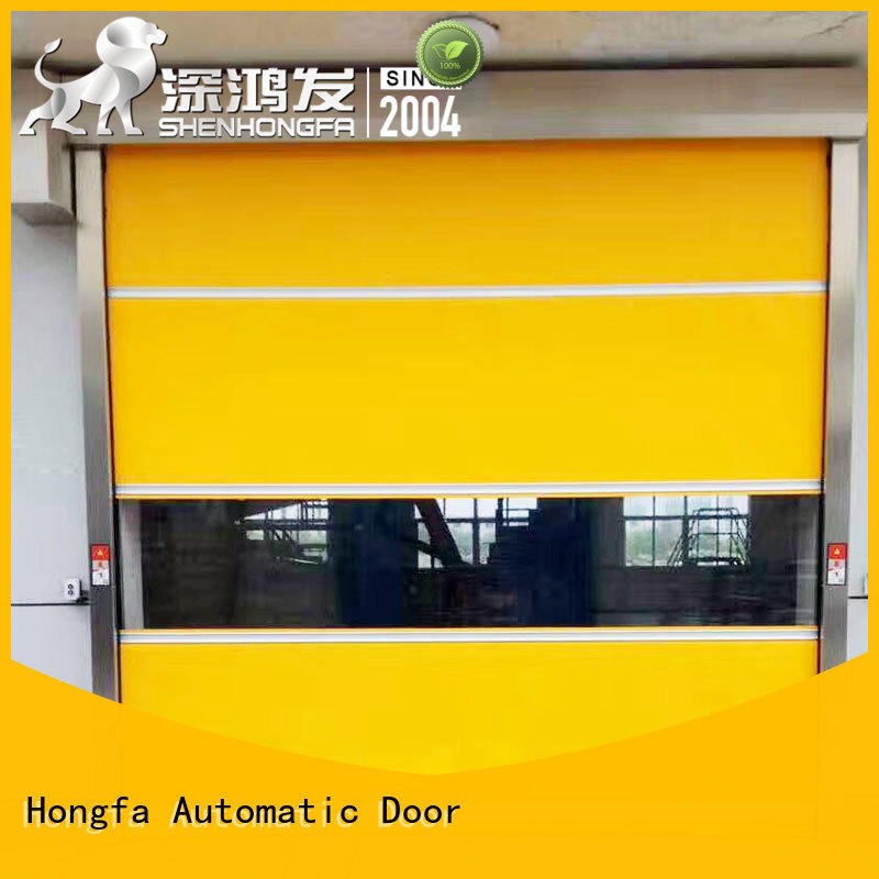 Hongfa flexible roll up security doors newly for warehousing