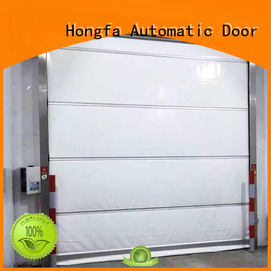 Hongfa control pvc high speed door newly for supermarket