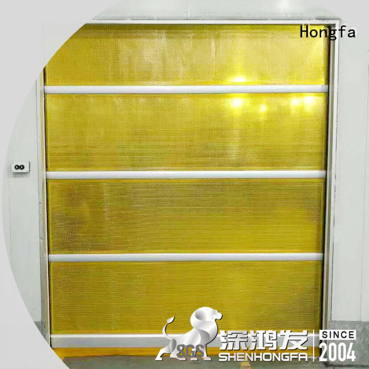 Hongfa high-tech roll up high speed door rapid for factory