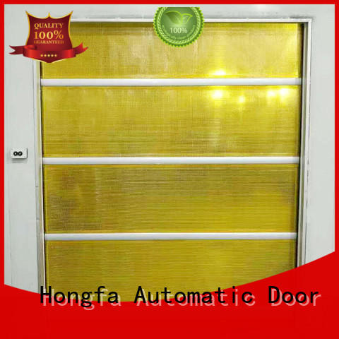 clear small roll up doors in different color for factory Hongfa
