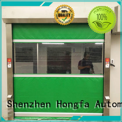 Hongfa automatic roll up high speed door in china for storage