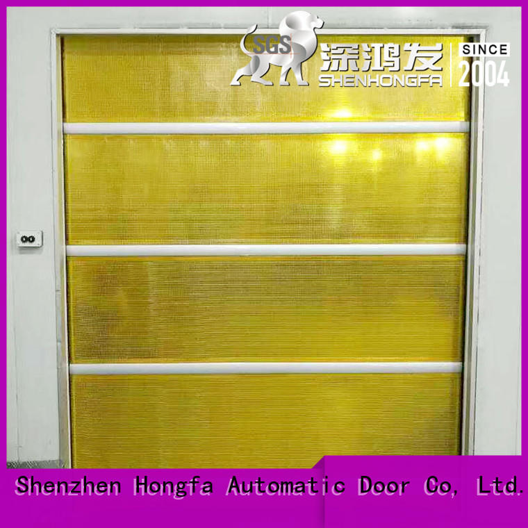 roller automatic roll up door industrial for food chemistry textile electronics supemarket refrigeration logistics Hongfa