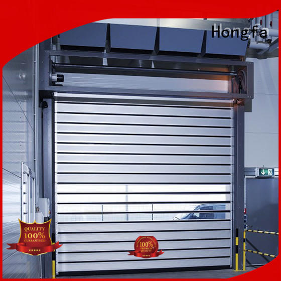 security electric roll up door from china for industrial warehouse Hongfa