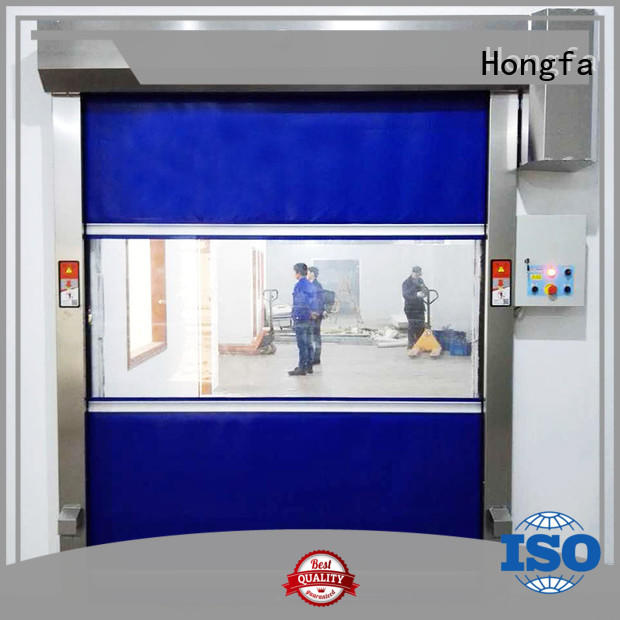 Hongfa remote PVC fast door in china for warehousing