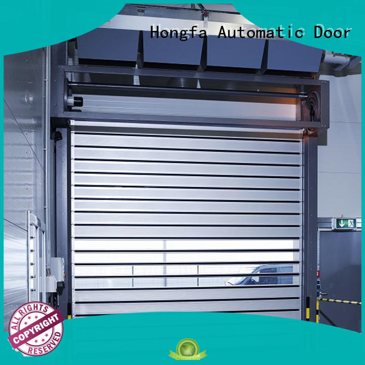 spiral security door in different color for cold room Hongfa