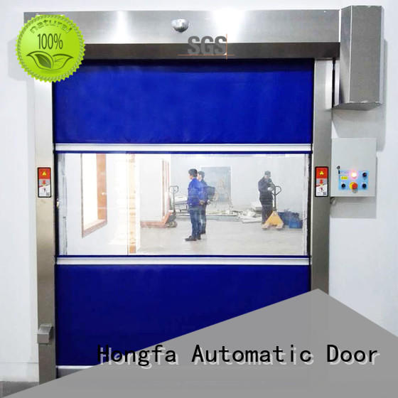 Hongfa automatic high speed fabric doors performance for supermarket