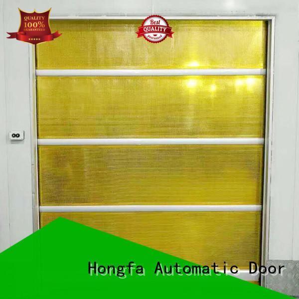 Hongfa professional roll up high speed door overseas market for factory