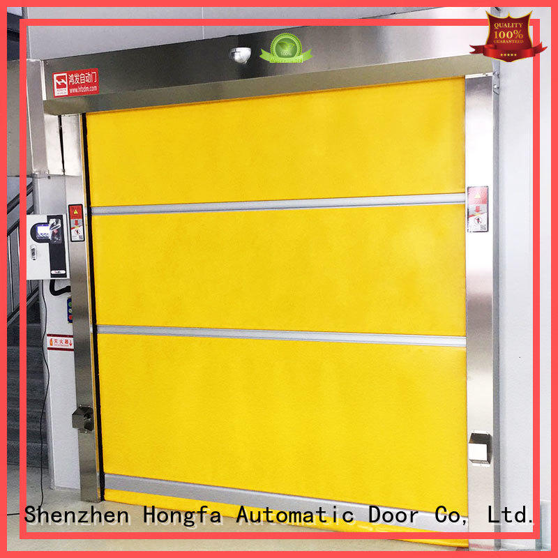 high speed fabric doors clear for food chemistry textile electronics supemarket refrigeration logistics Hongfa