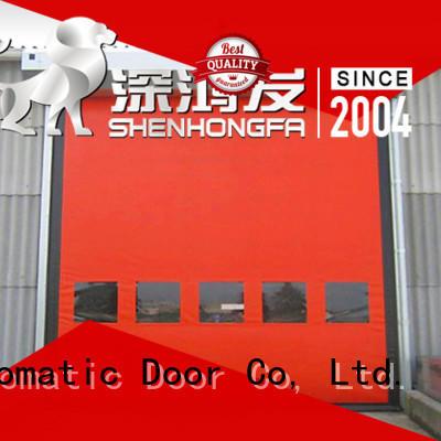 roller shutter doors zipper for warehousing Hongfa