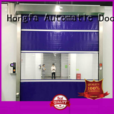 Hongfa oem roll up doors interior supplier for food chemistry textile electronics supemarket refrigeration logistics